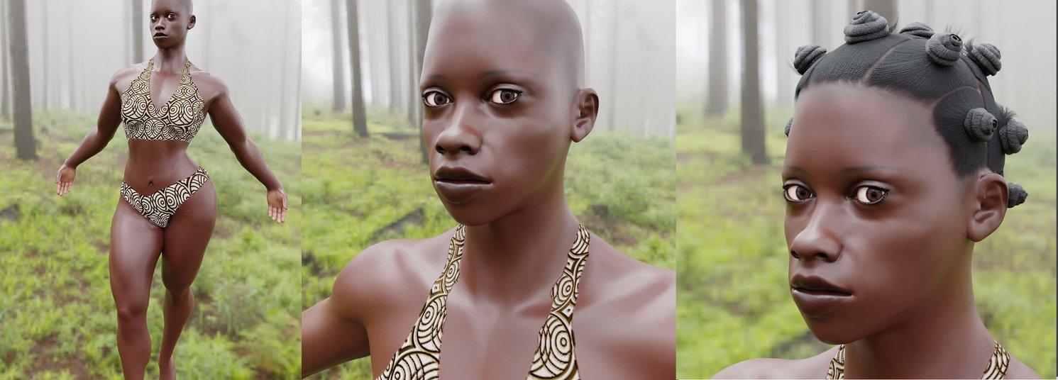 Bantu Lady Triple. CreatedbyCrosby.com