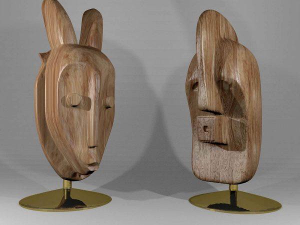 3d model of african masks image
